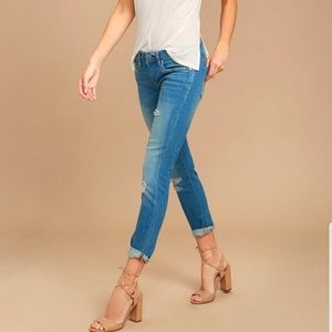 Blank NYC Skinny Clasique Distressed Blue Jeans 26